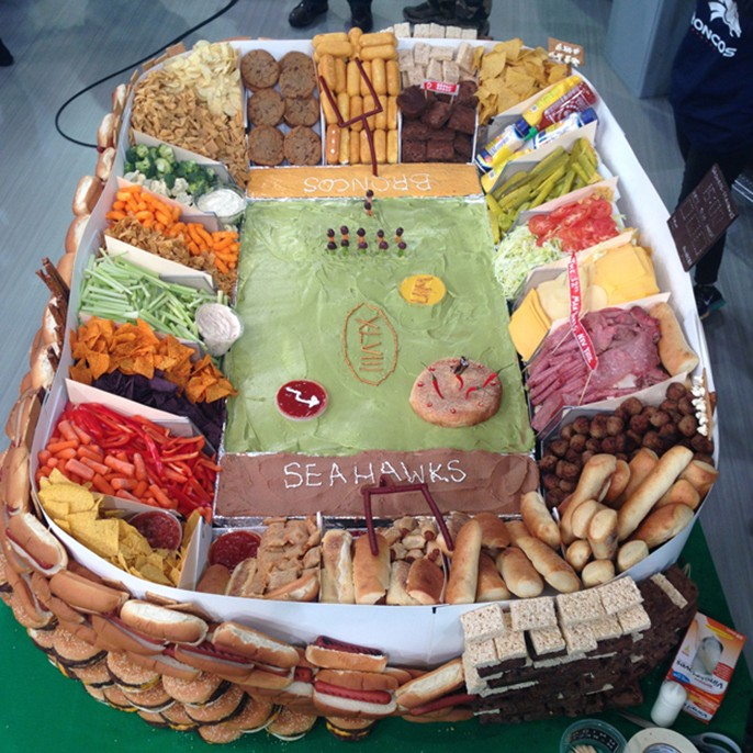 Super Bowl Snackadium Snack Stadium