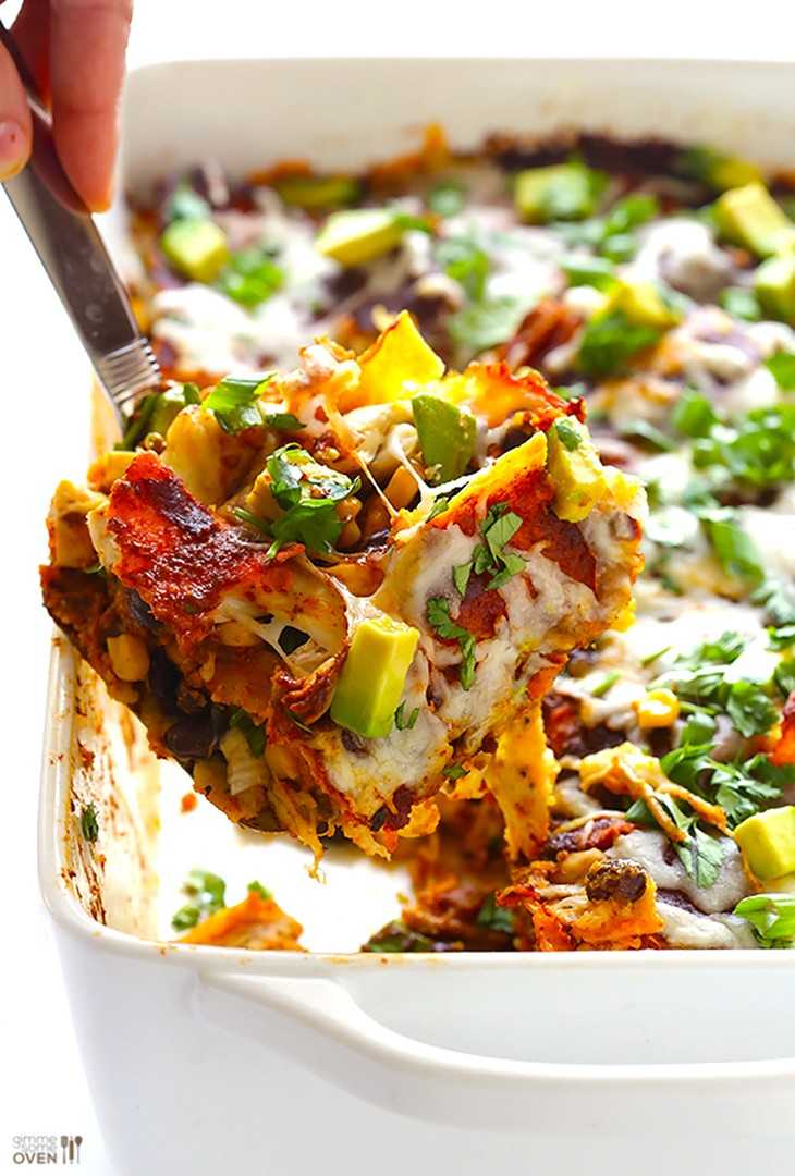 Baked Chicken Enchilada Casserole Recipe