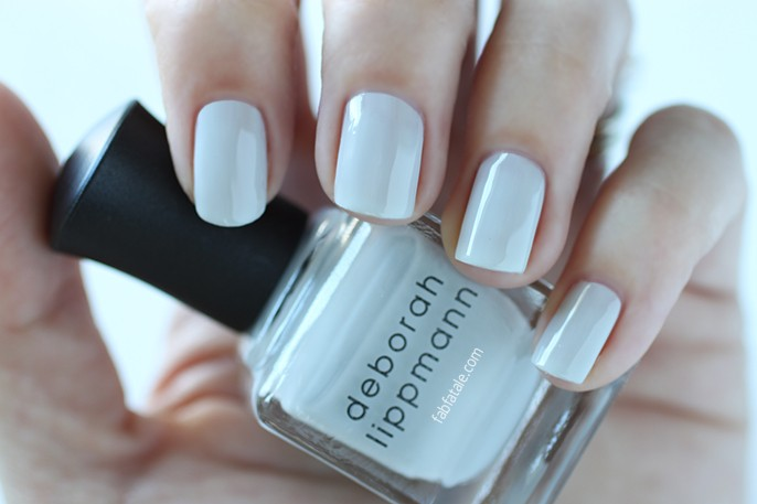 Deborah Lippmann Spring 2015 Misty Morning Swatch Blue Cream Nail Polish