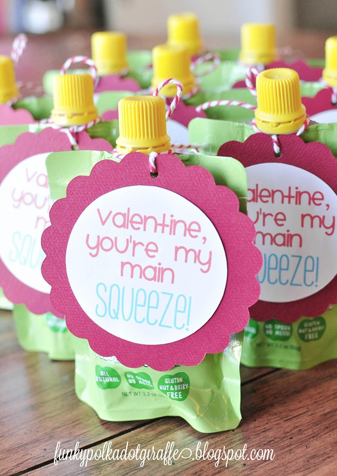Toddler Valentines Day Card Apple Squeeze Pouch