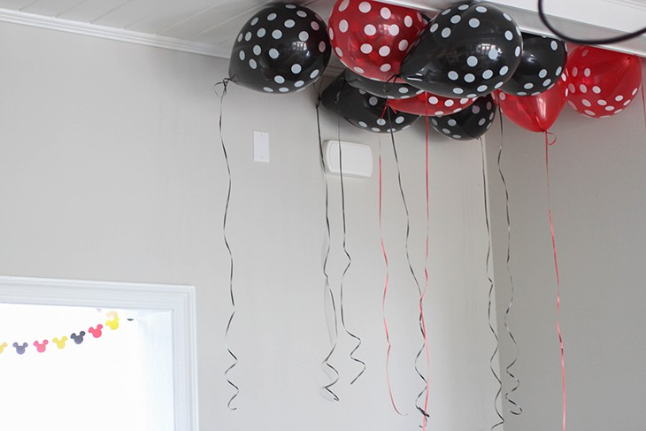 Mickey Mouse Birthday Party Ideas Polka Dot Balloons