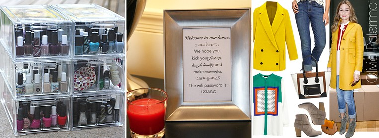 Nail Polish Storage Guest WiFi Sign Olivia Palermo Look For Less