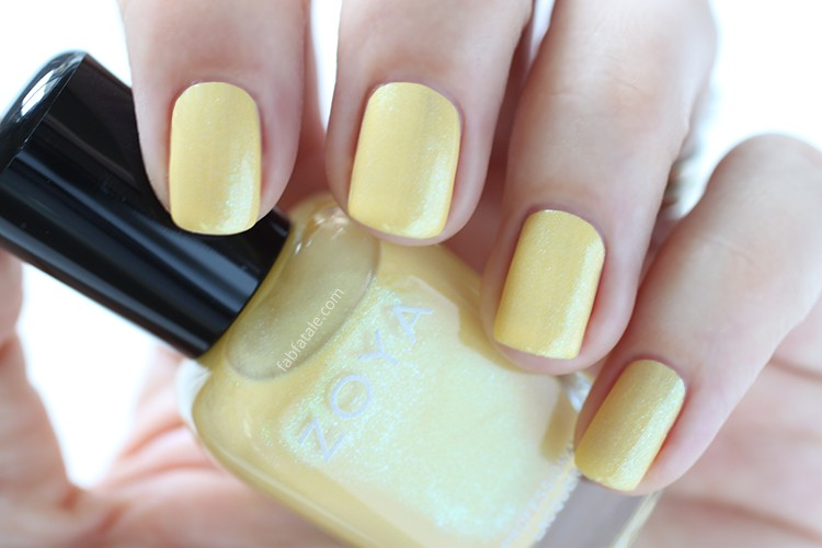 Zoya Spring 2015 Swatches Delight Daisy Yellow Metallic Shimmer Nail Polish