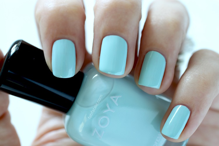 Zoya Spring 2015 Swatches Delight Lillian Light Blue Cream Nail Polish
