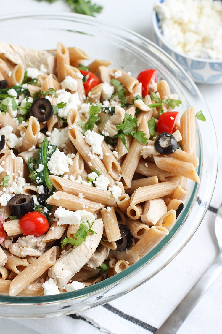 Mediterranean Pasta In A Light Cream Sauce