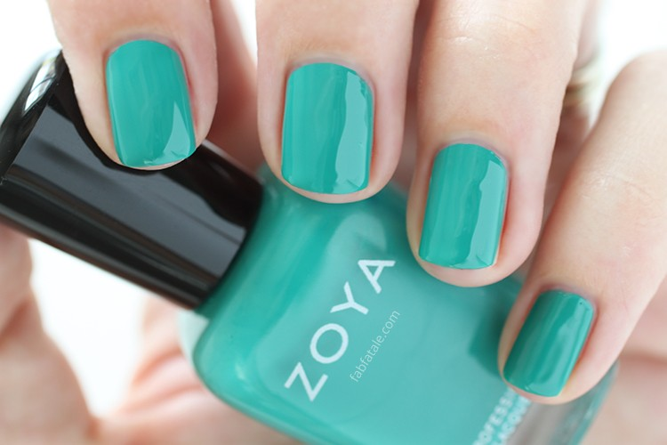 Zoya Island Fun Summer 2015 Swatch Cecilia Teal Green Cream