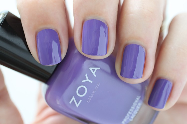 Zoya Island Fun Summer 2015 Swatch Serenity Purple Cream