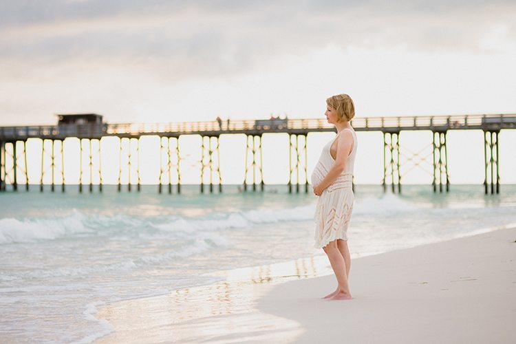 sunset beach maternity photoshoot - dress - northwest florida