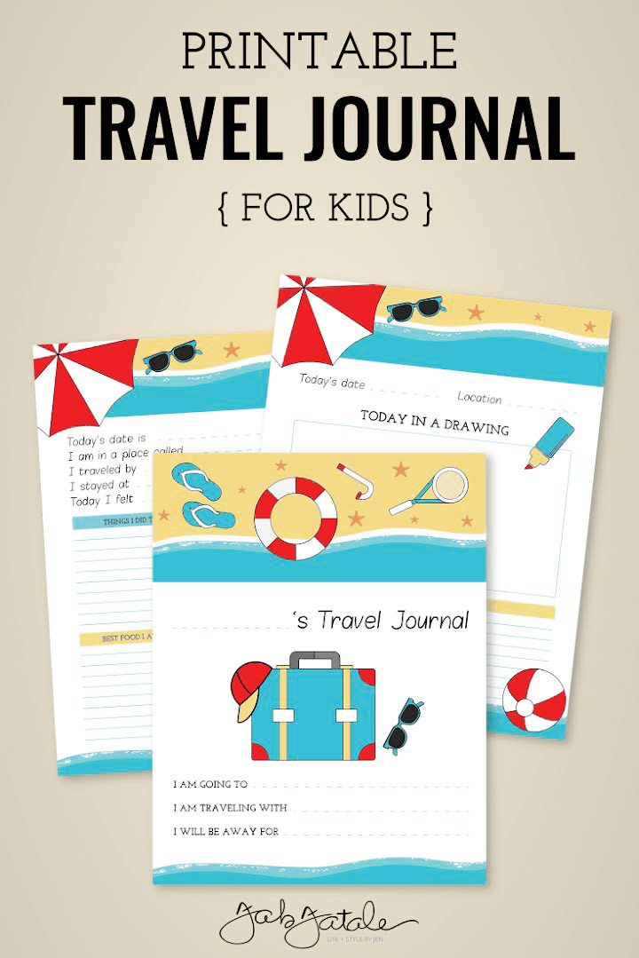 graphic relating to Travel Journal Printable identified as Children Push Magazine Absolutely free Printable - Fab Fatale