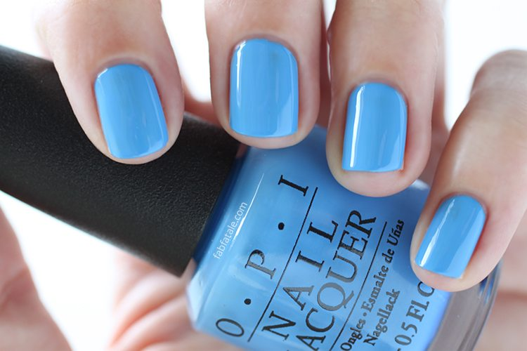 OPI New Orleans Rich Girls And Po-Boys Blue Cream Nail Polish