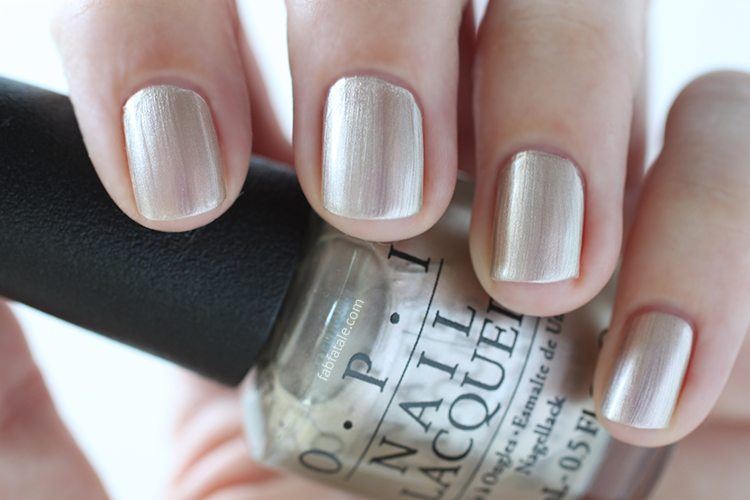 OPI New Orleans Take A Right On Bourbon Silver Gold Metallic Nail Polish
