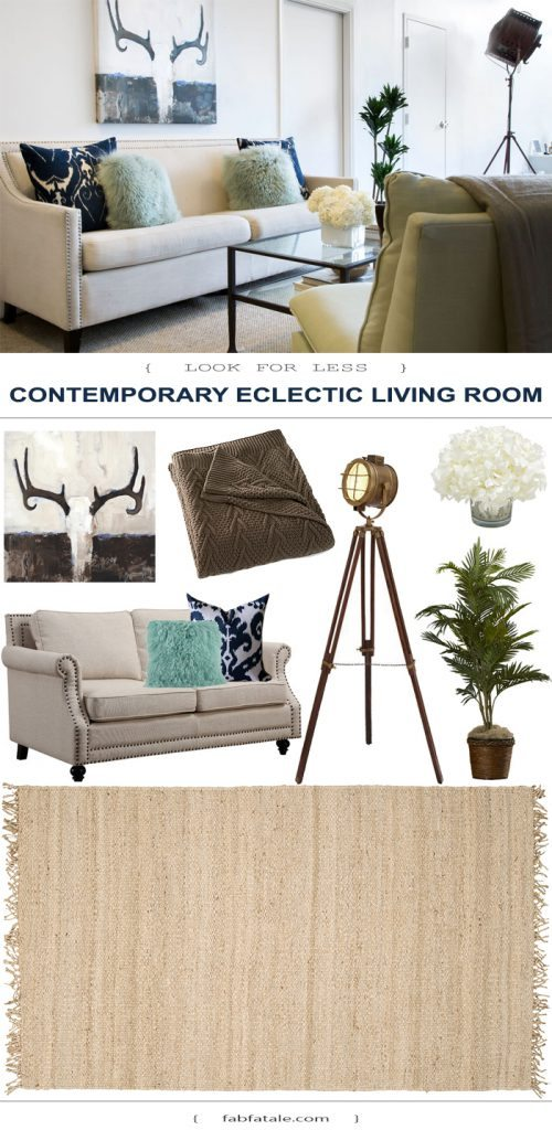 captivating modern eclectic living room | Contemporary Eclectic Living Room - Look for Less - Fab Fatale
