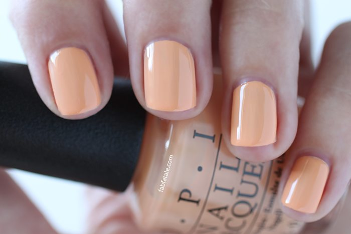 OPI Retro Summer Collection Nail Summer Im Getting A Tangerine Medium Peach Cream Nail Polish