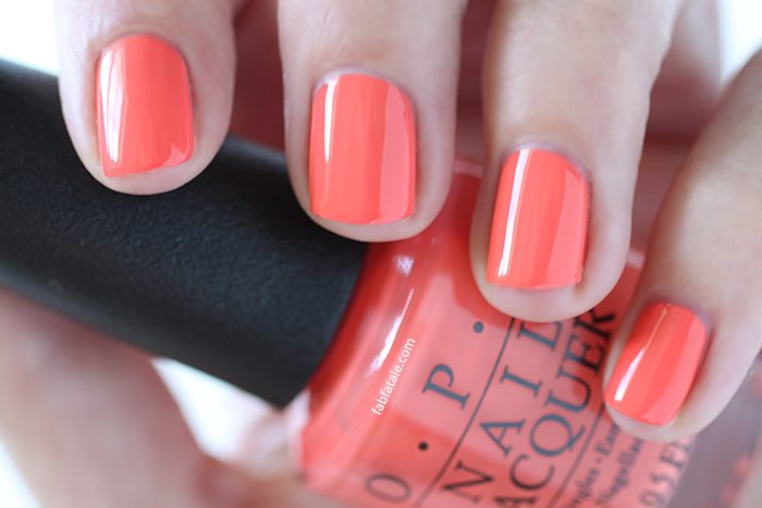 OPI Retro Summer Collection Nail SPF XXX Orange Red Cream Nail Polish