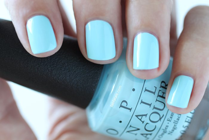 OPI Retro Summer Collection Nail Sailing And Nailing Light Blue Cream Nail Polish