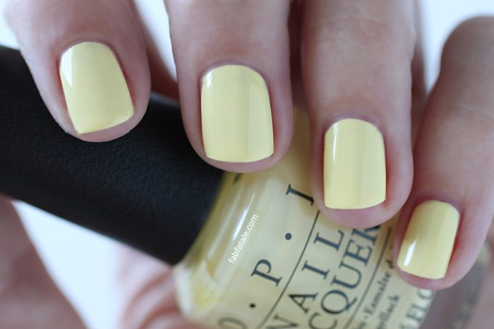 OPI Retro Summer Collection Nail Towel Me About It Light Yellow Cream Nail Polish