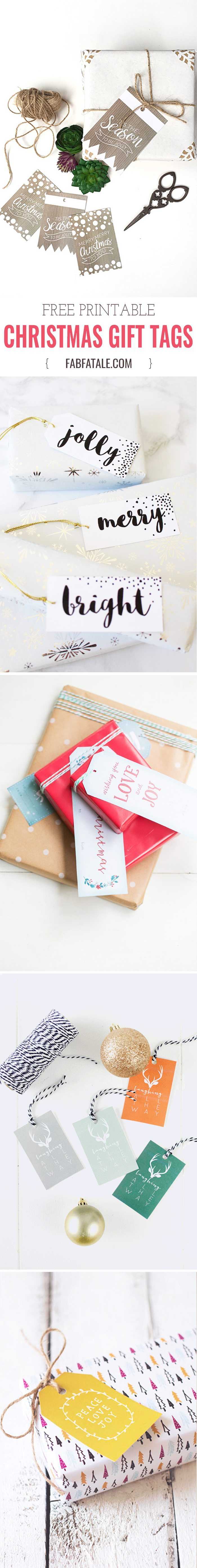loving all of these beautiful free Christmas gift tag printables, just print and cut. and did i mention they're free????