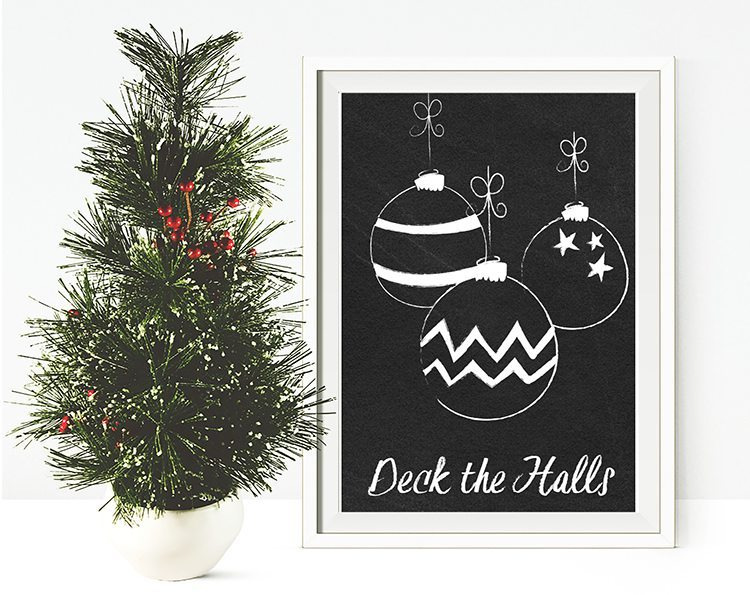 loving these free christmas printables, 6 chalkboard printables to choose from for free download - deck the halls holly jolly