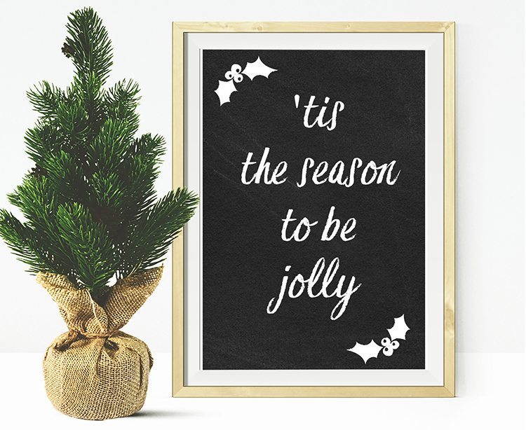 loving these free christmas printables, 6 chalkboard printables to choose from for free download - 'tis the season to be jolly