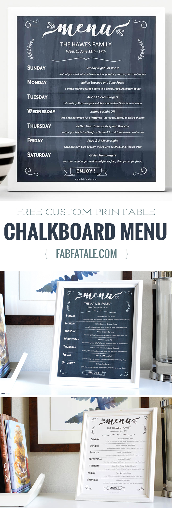 today, i'm offering up a free printable - customizable, editable chalkboard printable along with my best meal planning tips using the MealBoard app.